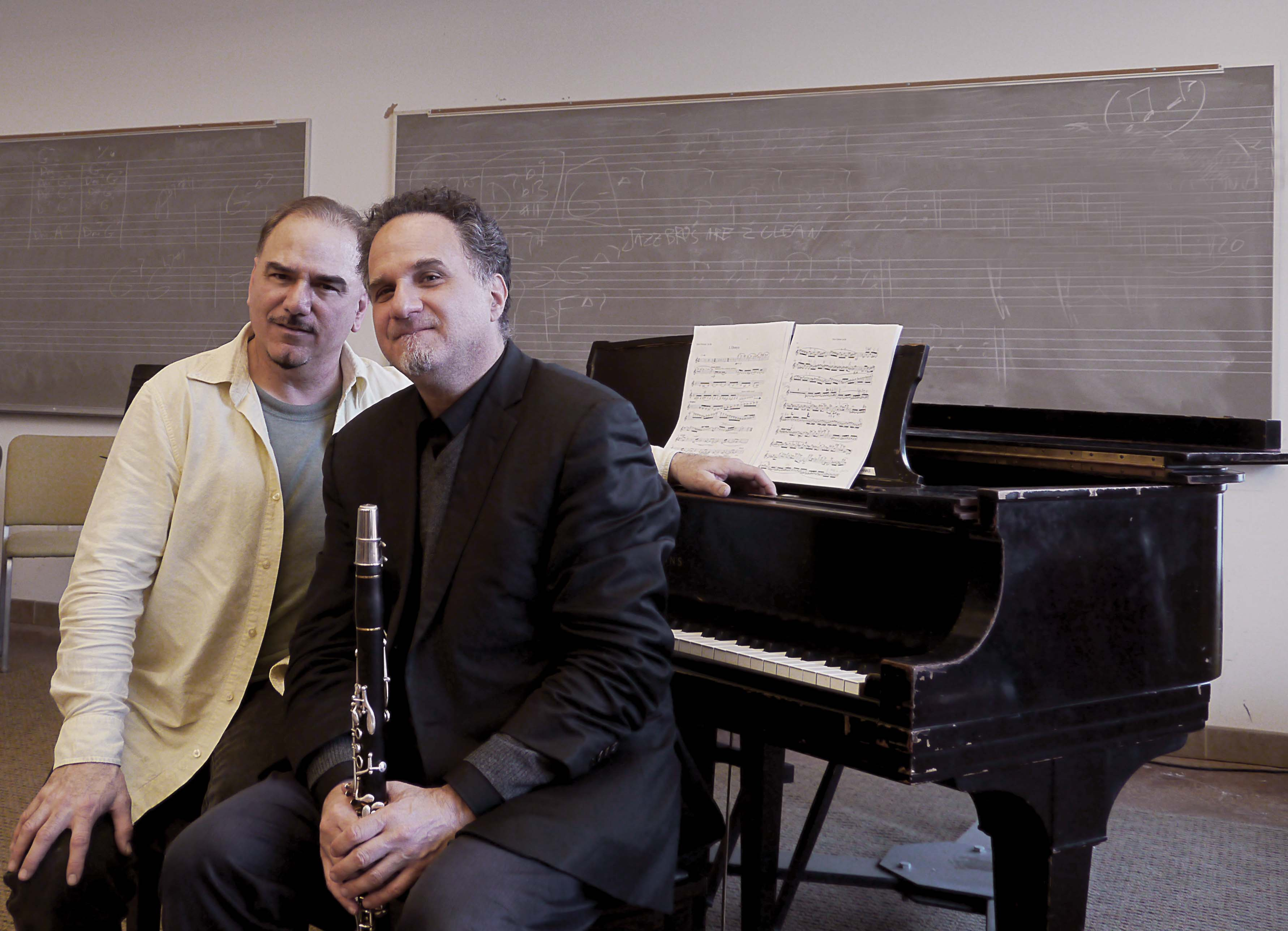 Tsontakis with clarinetist David Krakauer of the Klezmatics