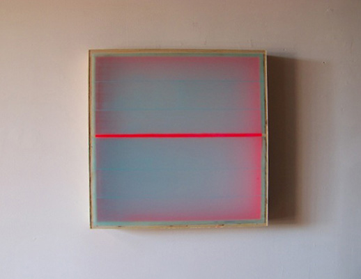 Heather Hutchison, Divided Light – Magenta, 2008 Plexiglas, enamel, beeswax, pigment, birch