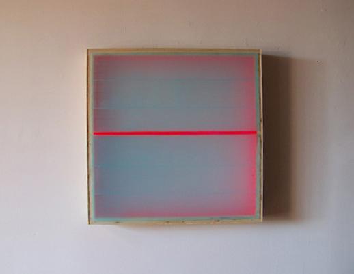 Heather Hutchison, Divided Light – Magenta, 2008 Plexiglas, enamel, beeswax, pigment, birch