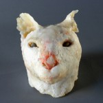 Jan Harrison, Cat With Raw Nose sculpture, 2006