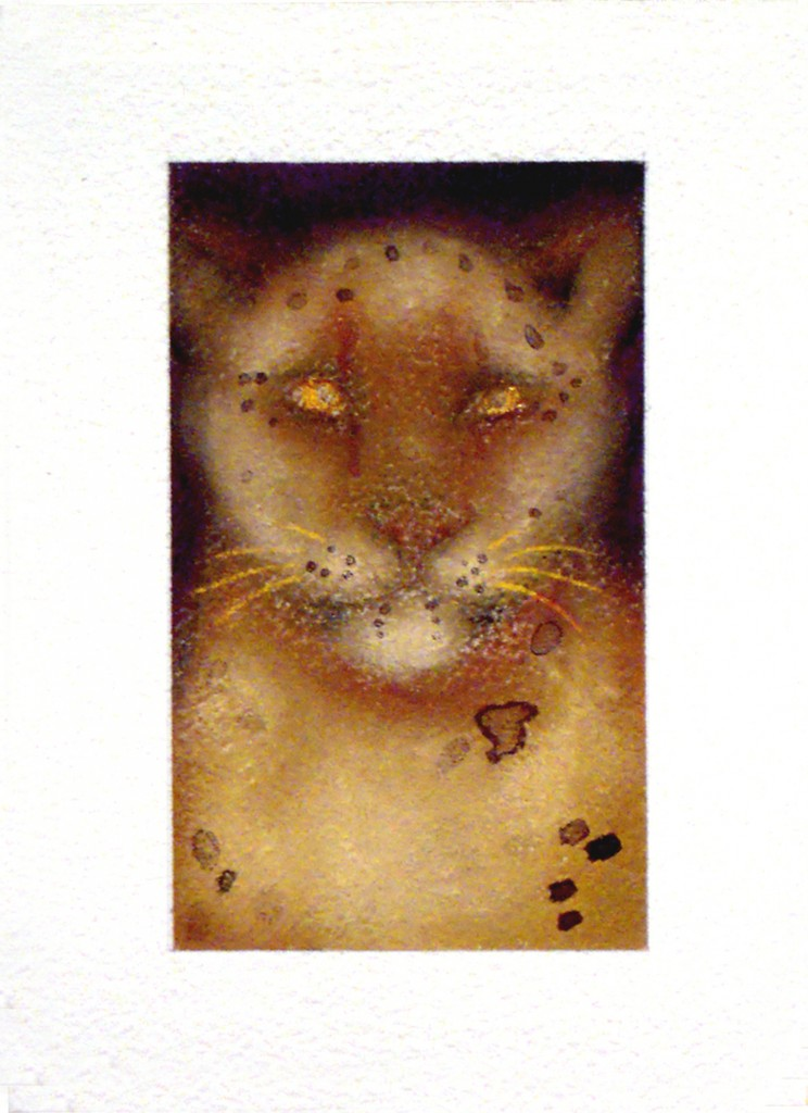 Jan Harrison, Tiny Snow Leopard #1, 2011 Private Collection