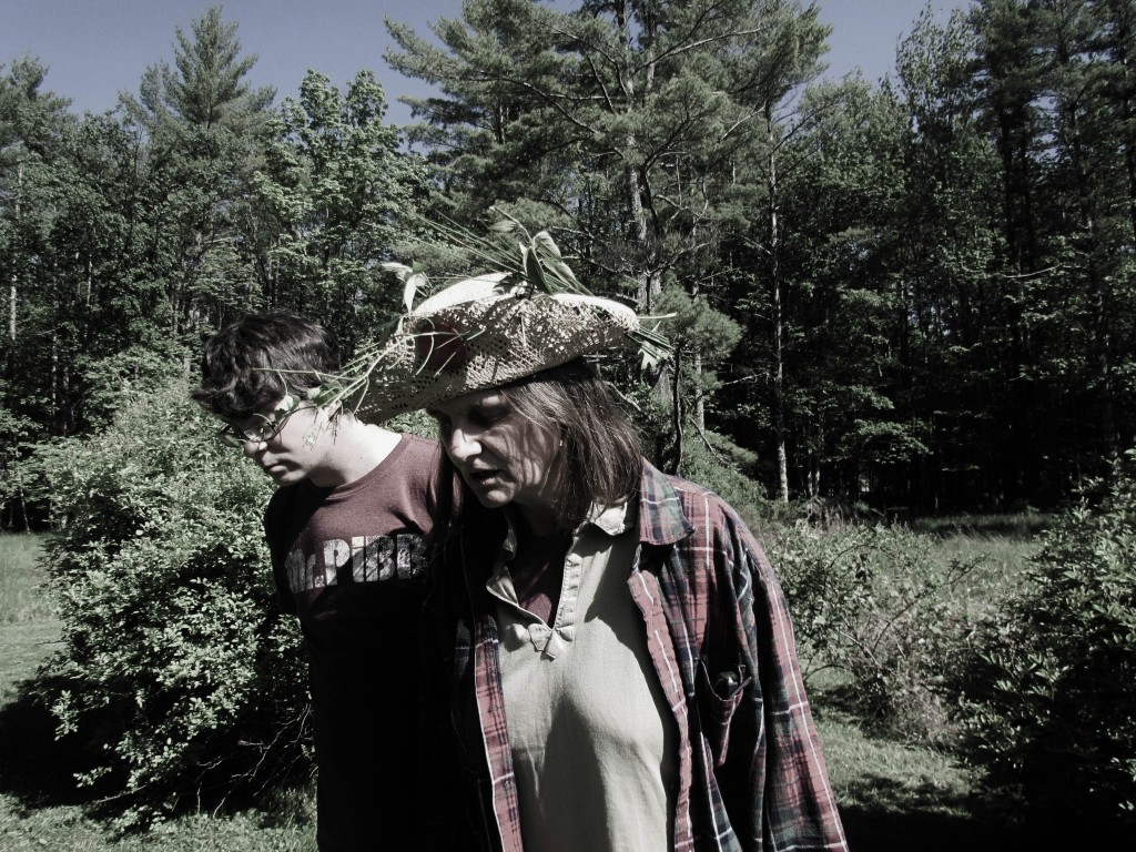 Joseph Bongiorno and Violet Snow rehearsing Hedgerow Specimen