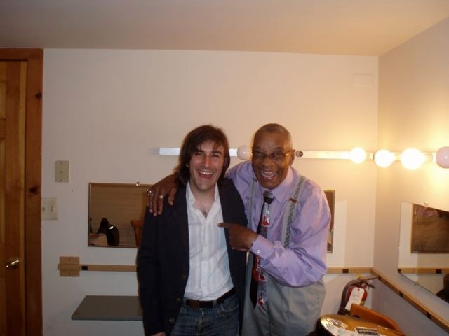 Chris Bergson with Hubert Sumlin