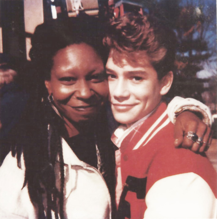 Jason Downs with Whoopie Goldberg
