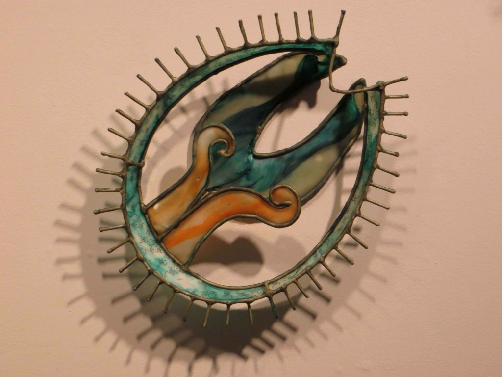 "Christy Rupp, detail, ""Microscopic Filter Feeders, Residing in Gulf of Mexico"""