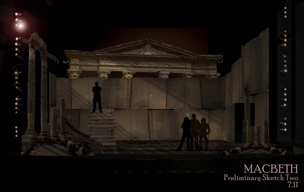Set design for Macbeth