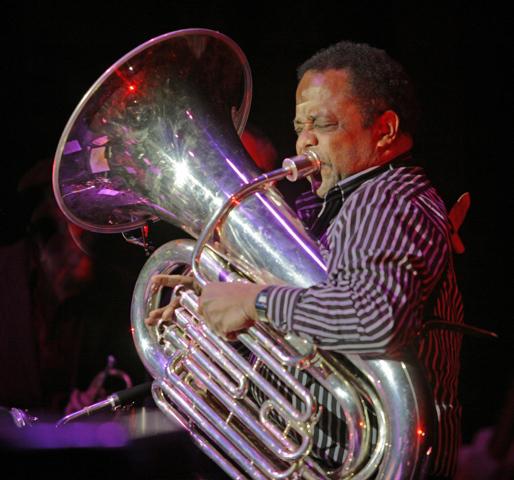 Howard Johnson plays at a Midnight Ramble, photo by Paul LaRaia
