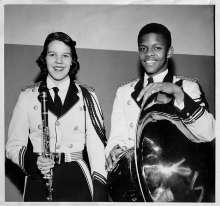 Howard with fellow Washington High School Marching Band member Margret Steffens, Massillon Ohio, 1958.