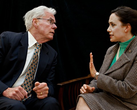 Farrell Reynolds as Joe Alsop argues with Anna Remet as his wife, Susan Mary in the top photo