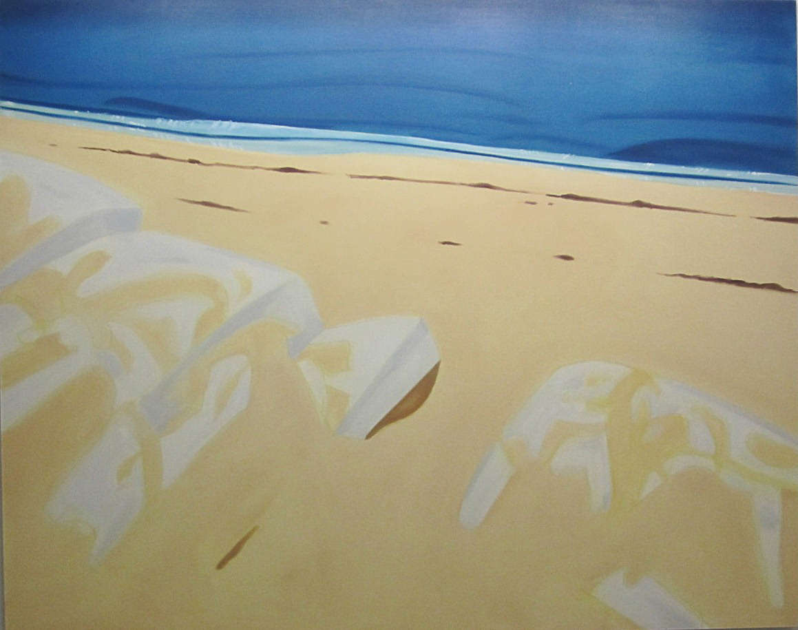 Alex Katz_Rocks 2, Oil on Linen 2002