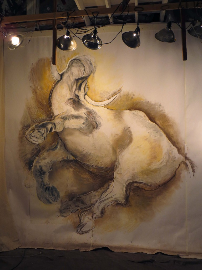 Of the Bull, Drawing by Gillian Jagger. Photo by Donna Calcavecchio
