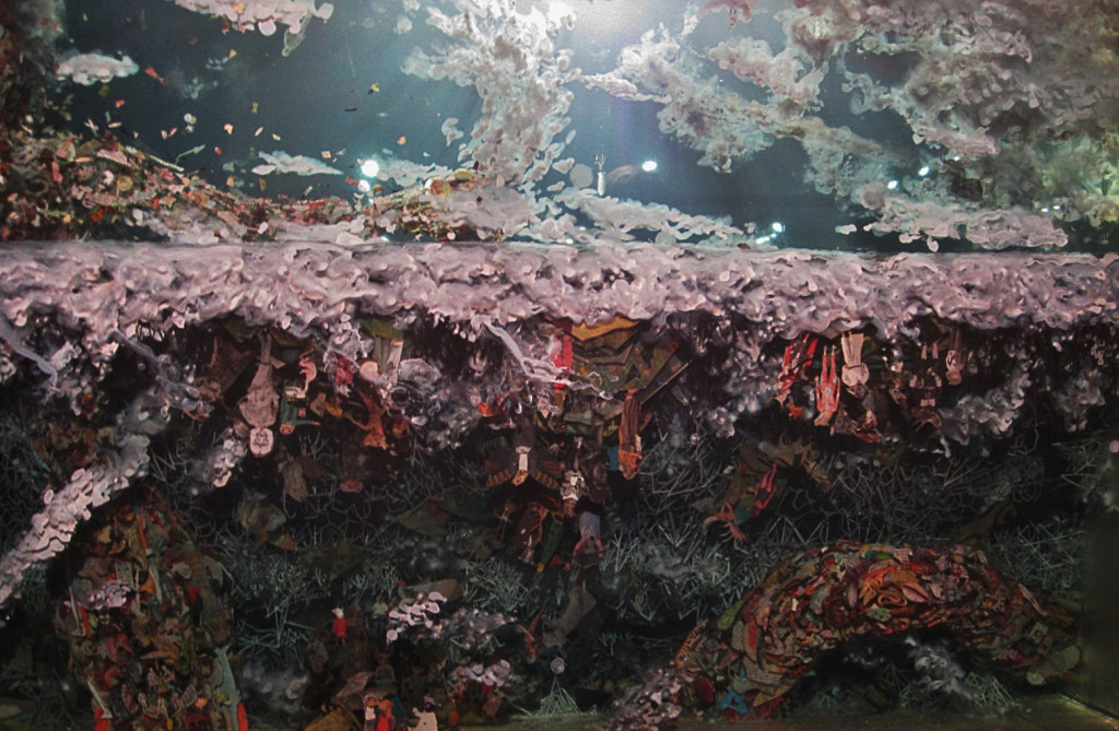Dustin Yellin detail