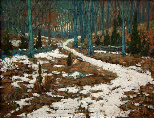 James Wardwell_Snowy Road_c 1917_Oil_Col Pamela Wardwell