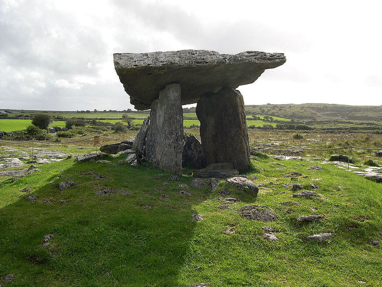 Poulnabrone Dolmen erected between 4200 and 2900 B.C.E.