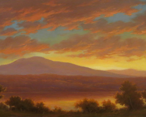 Crimson Skies over the Hudson, Jane Bloodgood-Abrams
