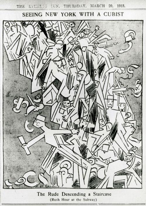 Cartoon-Griswold_Rude Descending-NYPL-NY Evening Sun