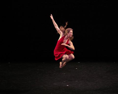 """Isabella Kosmacher '14 in """"Jooolia"""" by Katherine Wildberger ©Vassar College/ Rachel Garbade '15"""