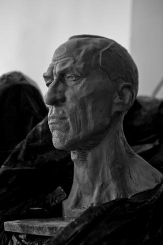 Philip Howie, Portrait Study, 2014, clay and armature.