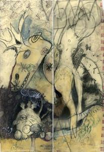Loel Barr Mutation. 10x15ish, mixed media and encaustic