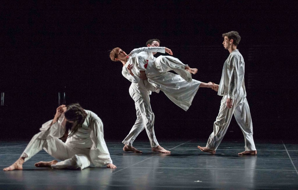 I'm going to toss my arms—if you catch them they're yours, Trisha Brown Company
