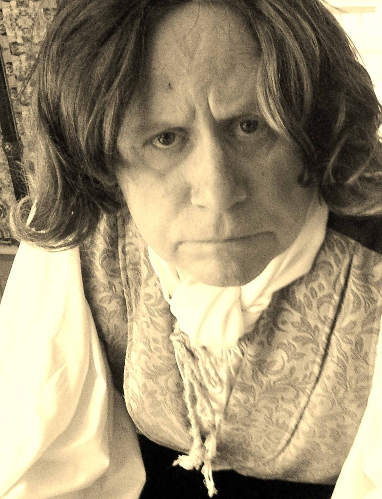 "Justin Kolb as the titular character in Carey Harrison's ""Seven Favorite Maladies of Ludwig Van Beethoven"" at the Phoenica International Festival of the Voice"