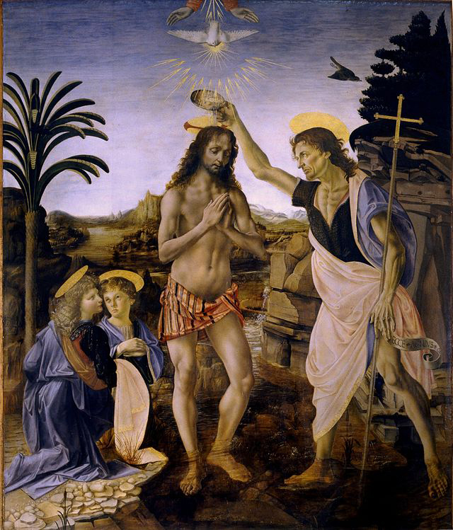 "Andrea Verrocchio, ""The Baptism of Christ"" 1472-1475"