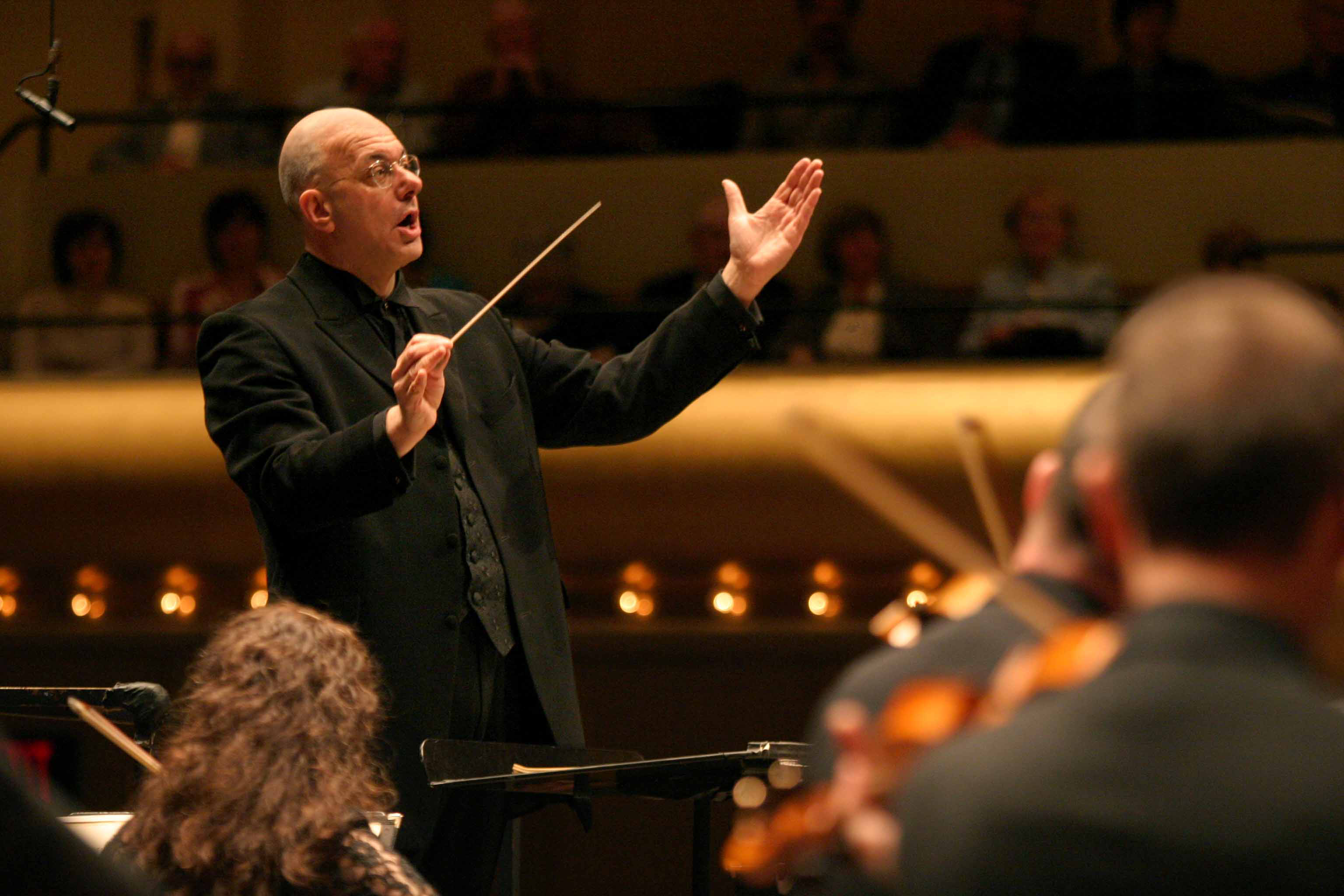 Leon Botstein conducting the American Symphony Orchestra