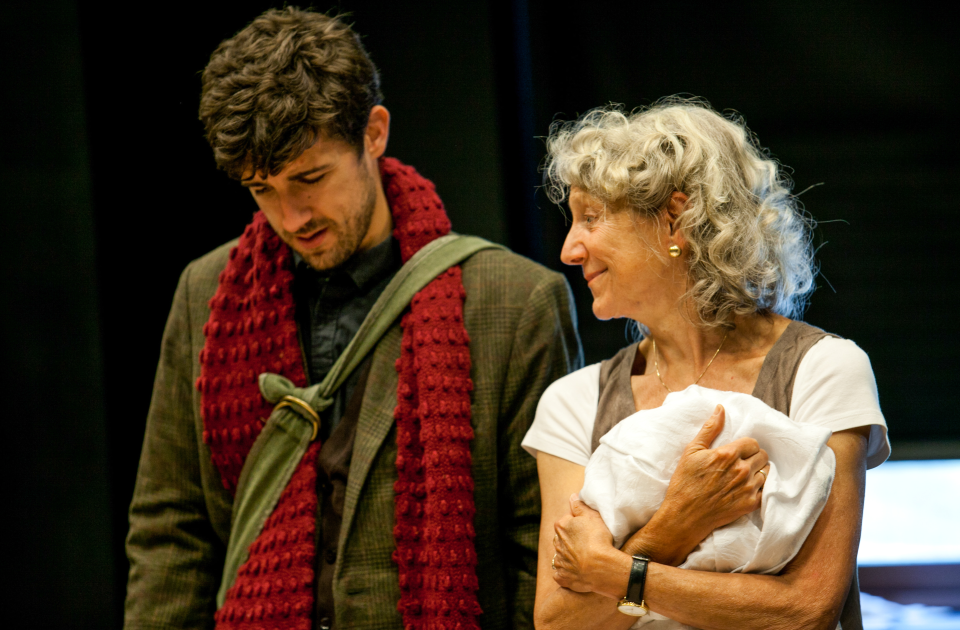 The Unbuilt City-Rehearsal-Carter Hudson and Beth Dixon- Photo by Buck Lewis