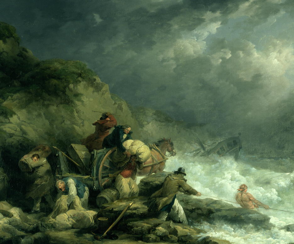 """""""The Wreckers"""" - George Morland (1790)"""