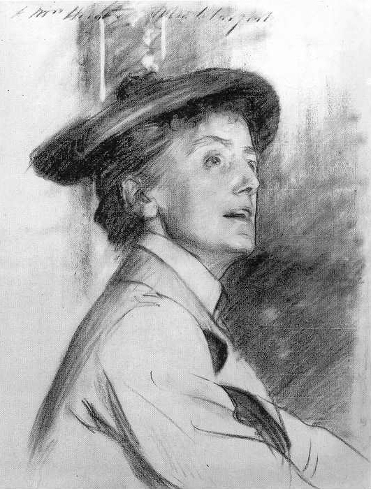 Dame Ethel Smyth - Drawing by John Singer Sargent