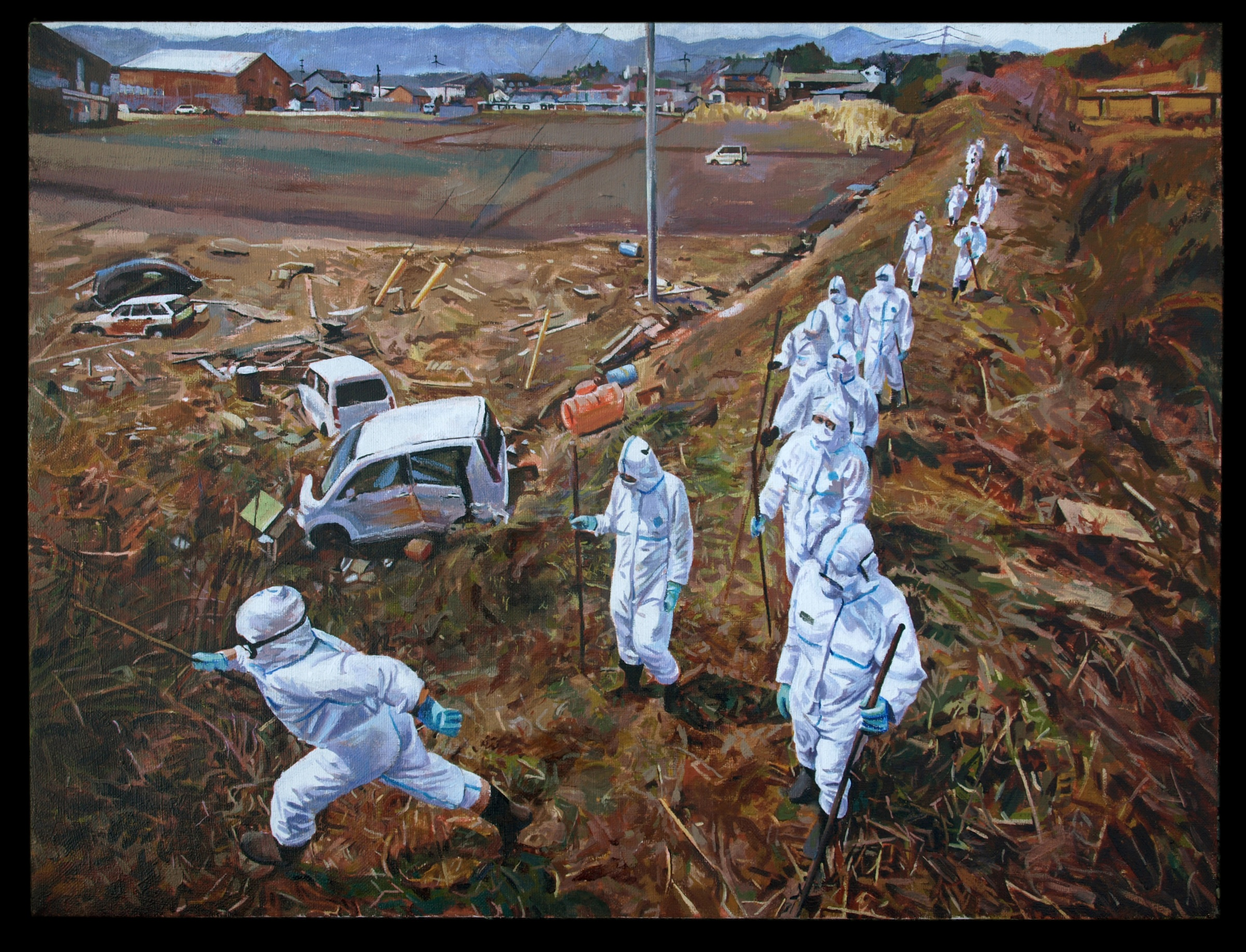 Tasha Depp, Fukushima Landscape. Oil on linen, 22x31