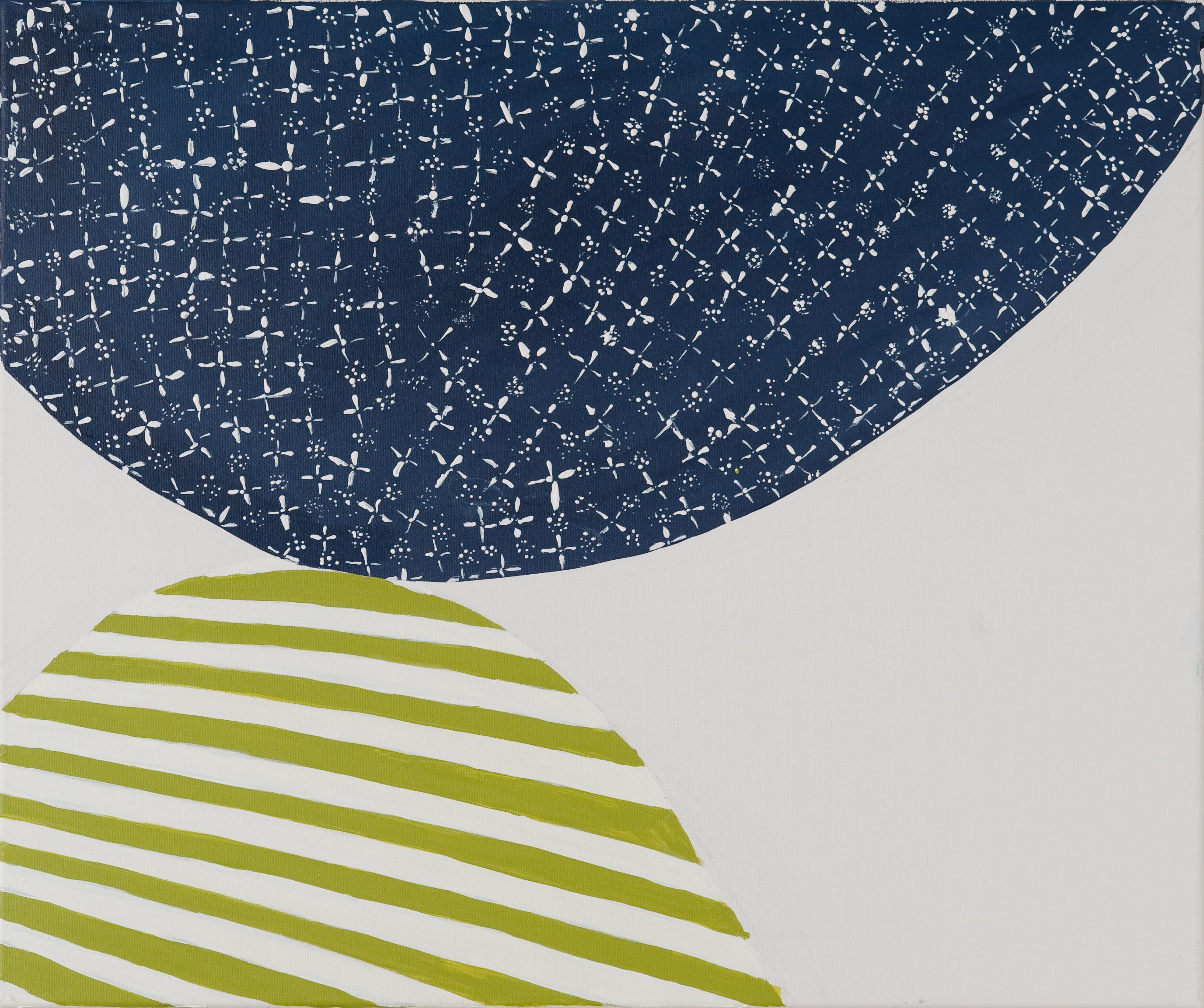 Perry Meigs, Untitled 2 (Spring 2011), 2013, Acrylic on canvas, 18 x 24 in., Courtesy the artist