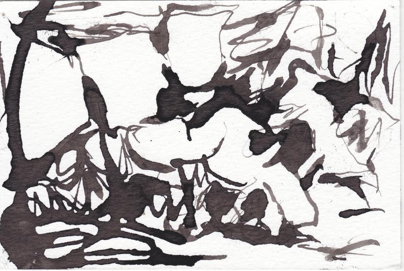 Creation Myth 3 ©Mark Thomas Kanter 2015 ink on paper