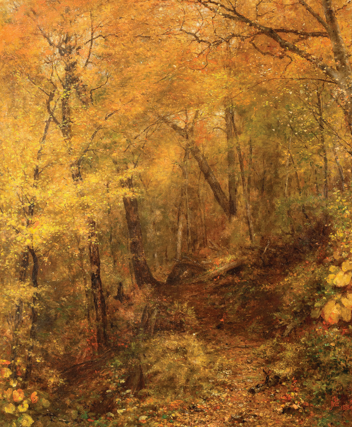 McEntee- The Yellow Autumn Woods, 1884