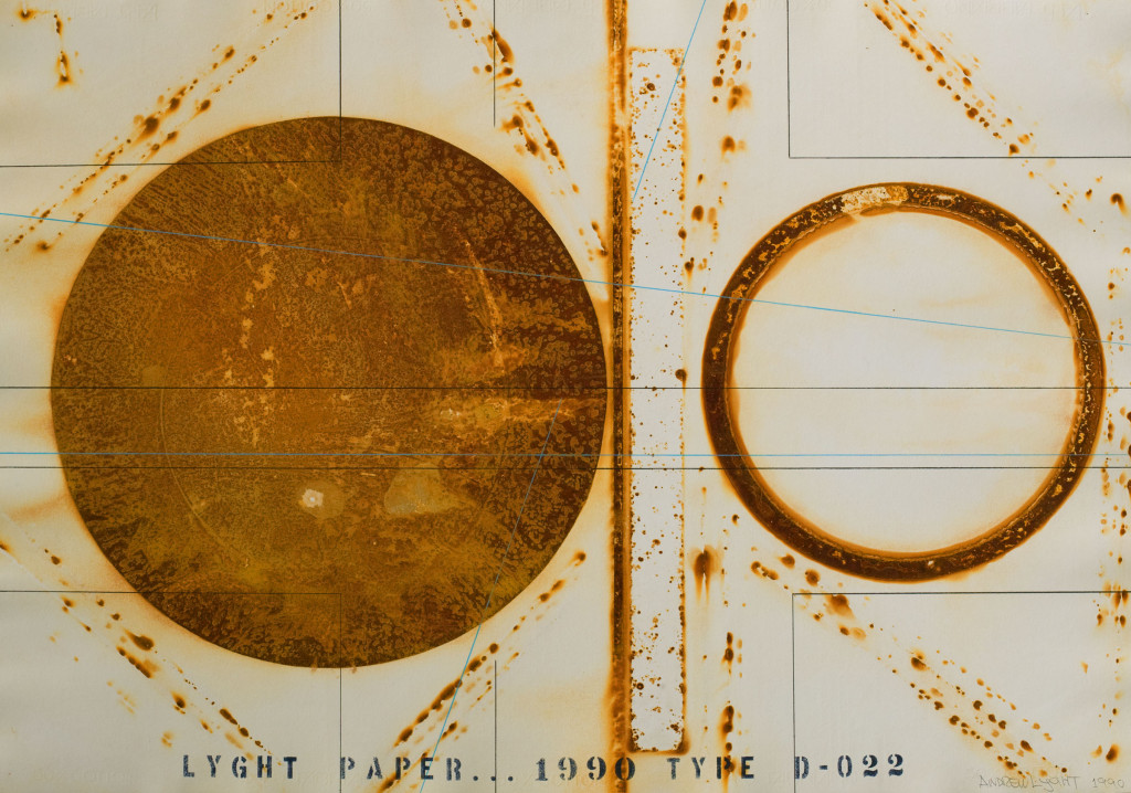 Andrew Lyght, LyghtForms Drawing Time-Rust Type D-022,1990