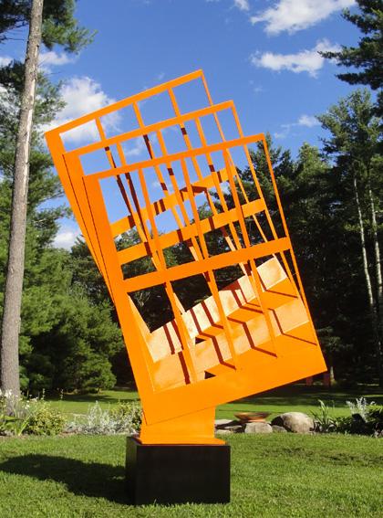 "Alex Kveton, ""Metropolis No. II,"" painted aluminium, 84"" x 60"" x 24"""