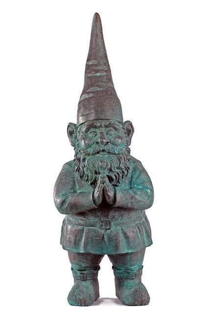 """Sam Tufnell, """"Bronze-age Gnome II,"""" 2013, bronze, 32"""" x 10"""" x 11"""""""