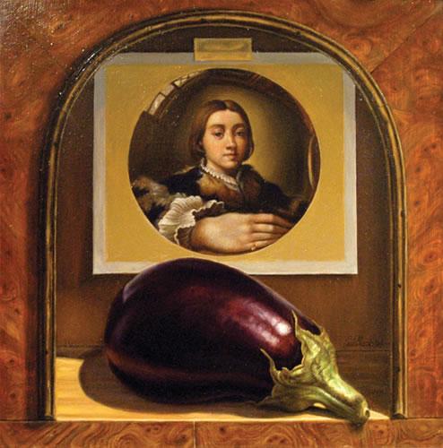Eggplant-Parmigianino-Oil-on-Wood-9.5x9