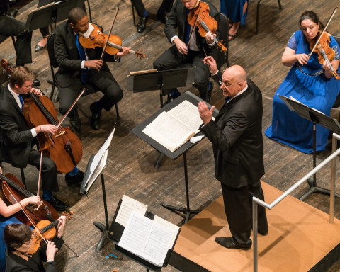 Leon Botstein conducts The Orchestra Now Photo by Matt Dine