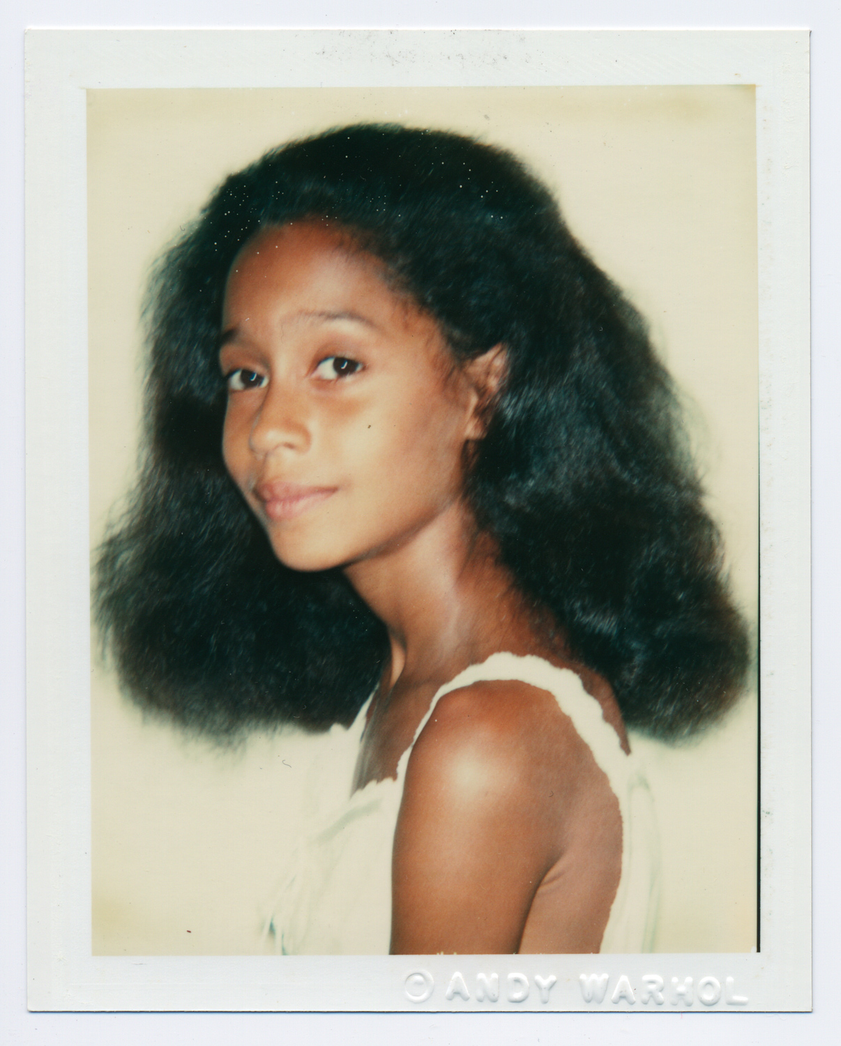 Andy Warhol, Tracee Ross, 1981 Polacolor 2. 4 ¼ x 3 3/8 inches Collection of Frances Lehman Loeb Art Center, Vassar College, Poughkeepsie, New York Gift of © The Andy Warhol Foundation for the Visual Arts, Inc.