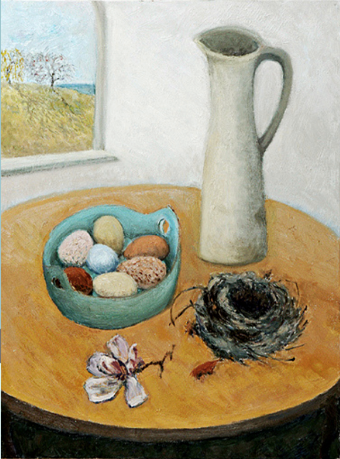 Elizabeth Shafer. Spring Still Life, 2000. Oil on canvas. 30 x 22 inches